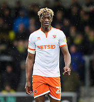 Blackpool's Armand Gnanduillet<br /> <br /> Photographer Chris Vaughan/CameraSport<br /> <br /> The EFL Sky Bet League One - Burton Albion v Blackpool - Saturday 16th March 2019 - Pirelli Stadium - Burton upon Trent<br /> <br /> World Copyright &copy; 2019 CameraSport. All rights reserved. 43 Linden Ave. Countesthorpe. Leicester. England. LE8 5PG - Tel: +44 (0) 116 277 4147 - admin@camerasport.com - www.camerasport.com