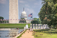 US Capitol Washington Monument WWII Memorial National Mall Washington DC
