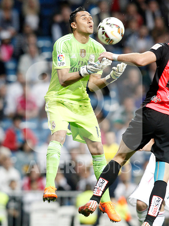 Real Madrid's Keylor Navas during La Liga match. April 29,2015. (ALTERPHOTOS/Acero)