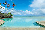 Infinity pool at Pacific Resort in Aitutaki, Cook Islands