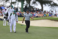 Bryson DeChambeau (USA) walking off the 3rd tee during the 2nd round at the The Masters , Augusta National, Augusta, Georgia, USA. 12/04/2019.<br /> Picture Fran Caffrey / Golffile.ie<br /> <br /> All photo usage must carry mandatory copyright credit (© Golffile | Fran Caffrey)