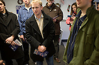 Young volunteers gather at the Newt Gingrich New Hampshire campaign headquarters in Manchester, New Hampshire, on Jan. 7, 2012. Gingrich is seeking the 2012 Republican presidential nomination.