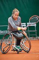 Paris, France, 01 June, 2016, Tennis, Roland Garros, Womans Wheelchair tennis, Jiske Griffioen (NED)<br /> Photo: Henk Koster/tennisimages.com