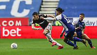 Bolton Wanderers' Joe Williams competing with Wigan Athletic's Reece James <br /> <br /> Photographer Andrew Kearns/CameraSport<br /> <br /> The EFL Sky Bet Championship - Wigan Athletic v Bolton Wanderers - Saturday 16th March 2019 - DW Stadium - Wigan<br /> <br /> World Copyright &copy; 2019 CameraSport. All rights reserved. 43 Linden Ave. Countesthorpe. Leicester. England. LE8 5PG - Tel: +44 (0) 116 277 4147 - admin@camerasport.com - www.camerasport.com