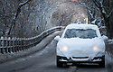 08/12/17<br /> <br /> A snow-covered car drives along a snowy lane in Buxton, after overnight snowfall in the Derbyshire Peak District.<br />   <br /> All Rights Reserved F Stop Press Ltd. +44 (0)1335 344240 +44 (0)7765 242650  www.fstoppress.com
