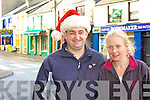 John & Julie Murphy getting in a little early Christmas Shopping in Cahersiveen.