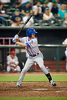 Round Rock Express second baseman Josh Wilson (11) at bat during a game against the Memphis Redbirds on April 28, 2017 at AutoZone Park in Memphis, Tennessee.  Memphis defeated Round Rock 9-1.  (Mike Janes/Four Seam Images)