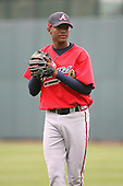 March 22nd 2008:  Julio Teheran of the Atlanta Braves minor league system during a Spring Training camp day at Disney's Wide World of Sports in Orlando, FL.  Photo by:  Mike Janes/Four Seam Images