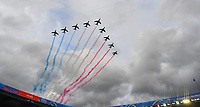 20190607 - PARIS , FRANCE : illstration picture shows the ' la patrouille de France ' during the openingsceremony during the female soccer game between France – Les Bleues  and Korea Republic, the opening game and first game for both teams in group A during the FIFA Women's  World Championship in France 2019, Friday 7 th June 2019 at the Parc des Princes Stadium in Paris , France .  PHOTO SPORTPIX.BE | DAVID CATRY