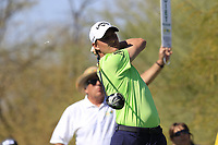 Emiliano Grillo (ARG) tees off the 9th tee during Saturday's Round 3 of the Waste Management Phoenix Open 2018 held on the TPC Scottsdale Stadium Course, Scottsdale, Arizona, USA. 3rd February 2018.<br /> Picture: Eoin Clarke | Golffile<br /> <br /> <br /> All photos usage must carry mandatory copyright credit (&copy; Golffile | Eoin Clarke)