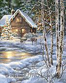 Dona Gelsinger, CHRISTMAS LANDSCAPES, WEIHNACHTEN WINTERLANDSCHAFTEN, NAVIDAD PAISAJES DE INVIERNO, paintings+++++,USGE1704,#xl#