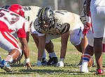 Palos Verdes, CA 10/09/15 - Chris Ghaly (Peninsula #75) in action during the Morningside - Peninsula varsity football game.  Morning side defeated Peninsula 24-21.