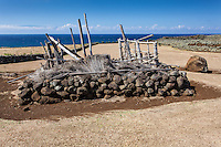 Offering stand at Mo'okini Heiau, North Kohala, Big Island.