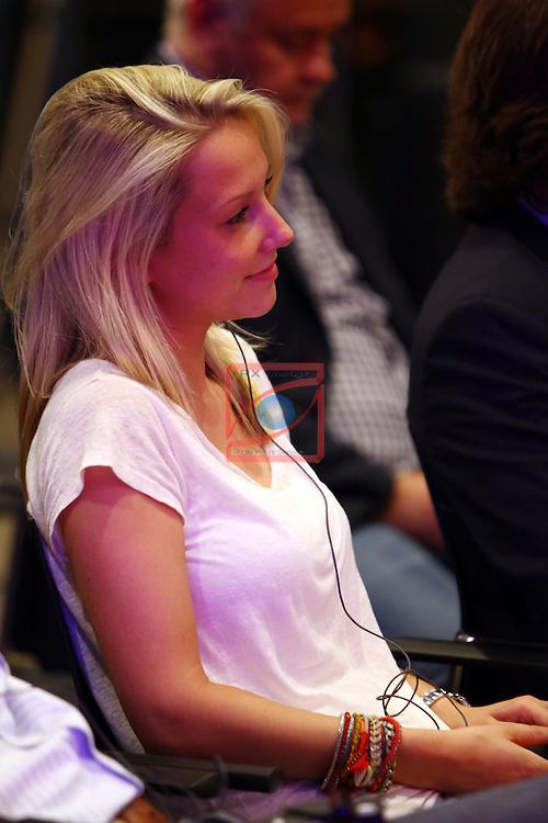 League BBVA 2014/2015.<br /> Daniela, Girlfriend of Marc-Andre Ter Stegen, looks on as during his presentation of Marc-Andre Ter Stegen as new goalkeeper of FC Barcelona at Camp Nou.