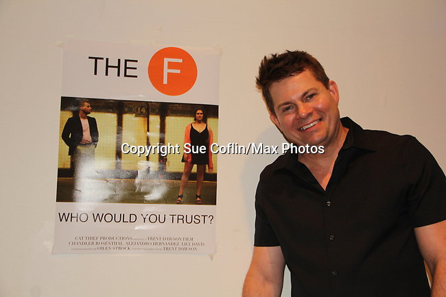 """As The World Turns' Trent Dawson wrote """"The F"""" held a Benefit for the film on June 22, 2018 at the Freeman Studio, New York City, New York. (Photo by Sue Coflin/Max Photo)"""