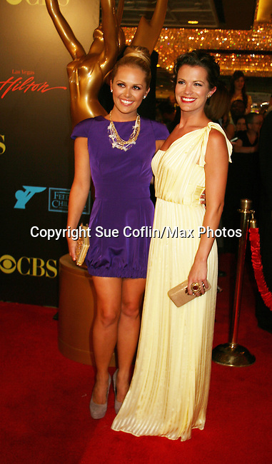 All My Children Natalie Hall and Melissa Claire Egan - Red Carpet - 37th Annual Daytime Emmy Awards on June 27, 2010 at Las Vegas Hilton, Las Vegas, Nevada, USA. (Photo by Sue Coflin/Max Photos)