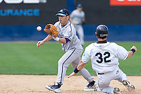 June 22, 2008: Luis Rodriquez of the Portland Beavers makes a force out at second base against the Tacoma Rainiers during a Pacific Coast League game at Cheney Stadium in Tacoma, Washington.