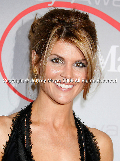 "Actress Lori Loughlin arrives at The 2008 Crystal + Lucy Awards, ""A Black And White Gala"" on June 17, 2008 at the Beverly Hilton Hotel in Beverly Hills, California."