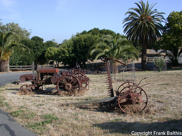Farm equipment at Garin Regional Park