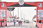 Groupama-FDJ cross the finish line of Stage 1 of the 2019 UAE Tour, a team time trial running 16km around Al Hudayriat Island, Abu Dhabi, United Arab Emirates. 24th February 2019.<br /> Picture: LaPresse/Massimo Paolone | Cyclefile<br /> <br /> <br /> All photos usage must carry mandatory copyright credit (© Cyclefile | LaPresse/Massimo Paolone)