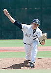 April 28, 2012:   Nevada Wolf Pack reliever Bryan Suarez on the mound against the Fresno State Bulldogs during their NCAA baseball game played at Peccole Park on Saturday afternoon in Reno, Nevada.