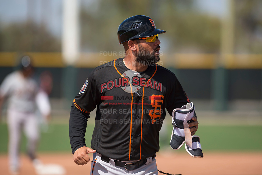 San Francisco Giants manager Hector Borg (13) during a Minor League Spring Training game against the Cleveland Indians at the San Francisco Giants Training Complex on March 14, 2018 in Scottsdale, Arizona. (Zachary Lucy/Four Seam Images)