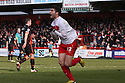 Dani Lopez of Stevenage celebrates scoring their first goal. Stevenage v Sheffield United - npower League 1 -  Lamex Stadium, Stevenage - 16th March, 2013. © Kevin Coleman 2013.. . . .