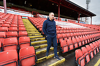Swansea City manager Steve Cooper walks down the steps of one of the stands prior to the Sky Bet Championship match between Barnsley and Swansea City at Oakwell Stadium, Barnsley, England, UK. Saturday 19 October 2019