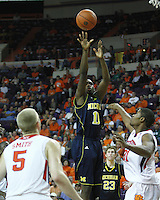Nov 30, 2010; Clemson, SC, USA; Michigan Wolverines guard Tim Hardaway, Jr. (10) shoots a field goal in the game against the Clemson Tigers at Littlejohn Coliseum. Mandatory Credit: Daniel Shirey/WM Photo -US PRESSWIRE