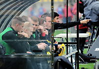 Phoenix head coach Darije Kalezic makes a point during the A-League football match between Wellington Phoenix and Adelaide United FC at Westpac Stadium in Wellington, New Zealand on Sunday, 8 October 2017. Photo: Dave Lintott / lintottphoto.co.nz