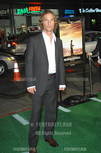 "MATTHEW McCONAUGHEY at the Los Angeles premiere of his new movie ""We Are Marshall"" at Grauman's Chinese Theatre, Hollywood..December 14, 2006  Los Angeles, CA.Picture: Paul Smith / Featureflash"