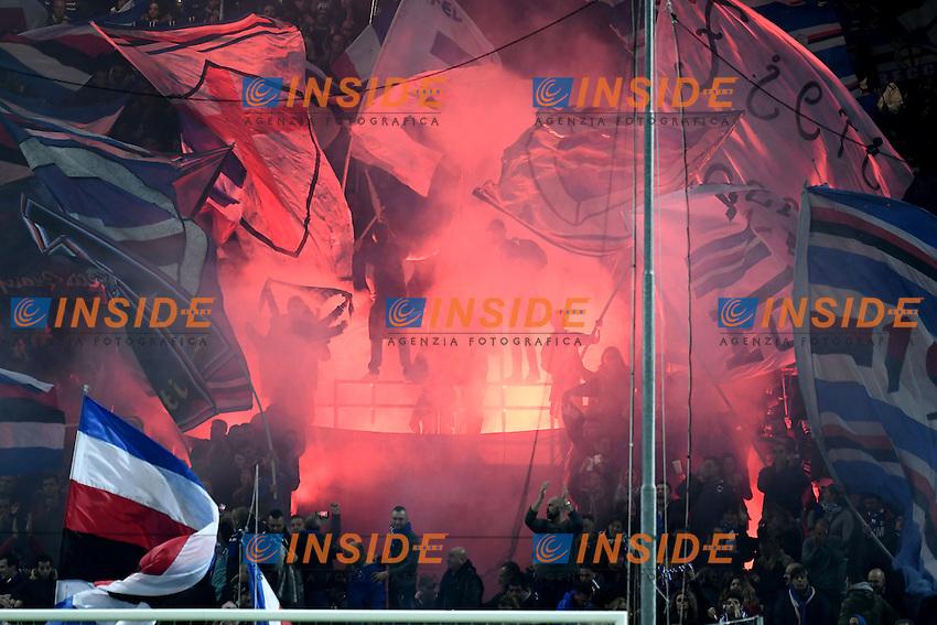 Tifosi Sampdoria Supporters <br /> Genoa 10-12-2016 Stadio Marassi Football Calcio Serie A 2016/2017 Sampdoria - Lazio foto Image Sport/Insidefoto<br /> nella foto: tifosi Sampdoria