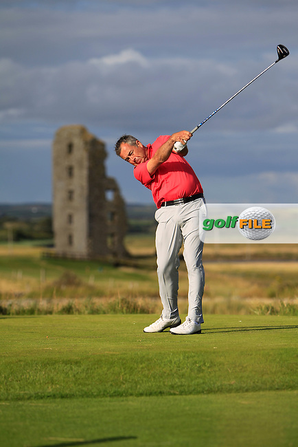 Pat Murray (Limerick) on the 13th tee during the South of Ireland Amateur Open Championship 4th Round at Lahinch Golf Club  29th July 2013 <br /> Picture:  Thos Caffrey / www.golffile.ie