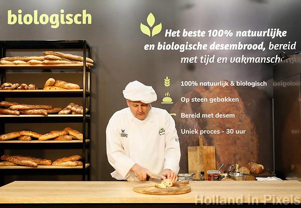 Nederland - Amsterdam - Januari 2019.  HORECAVA beurs in de RAI. Pandriks 100% biologisch brood.   Foto Berlinda van Dam / Hollandse Hoogte