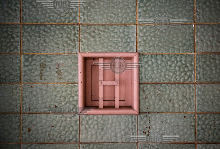 A detail in the lobby of the Bauhaus style Yeruchilimsky House at 26 Balfour Street built, in 1934, by architect Shlomo Flato. Tel Aviv is known as the White City in reference to its collection of 4,000 Bauhaus style buildings, the largest number in any city in the world. In 2003 the Bauhaus neighbourhoods of Tel Aviv were placed on the UNESCO World Heritage List. .