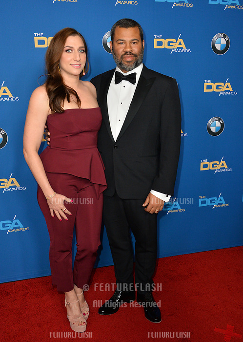 Chelsea Peretti &amp; Jordan Peele at the 70th Annual Directors Guild Awards at the Beverly Hilton Hotel, Beverly Hills, USA 03 Feb. 2018<br /> Picture: Paul Smith/Featureflash/SilverHub 0208 004 5359 sales@silverhubmedia.com