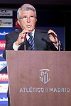 Atletico de Madrid president, Enrique Cerezo during Gerson Martins presentation as new Atletico de Madrid soccer player at Wanda Metropolitano in Madrid, Spain. July 09, 2018. (ALTERPHOTOS/Borja B.Hojas)