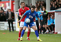 Jack Powell of Ebbsfleet United and Louie Theophanous of Chelmsford City during Ebbsfleet United vs Chelmsford City, Vanarama National League South Play-Off Final Football at The PHB Stadium on 13th May 2017