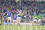 Bryan Sheehan, Kerry in action against Ian Fahey, Tipperary in the first round of the Munster Football Championship at Fitzgerald Stadium on Sunday.