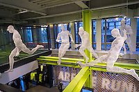 3-D printed display in the new Nike flagship store on opening day in Soho in New York on Friday, November 18, 2016. Nike is the largest global athletic shoe and clothing maker. (© Richard B. Levine)
