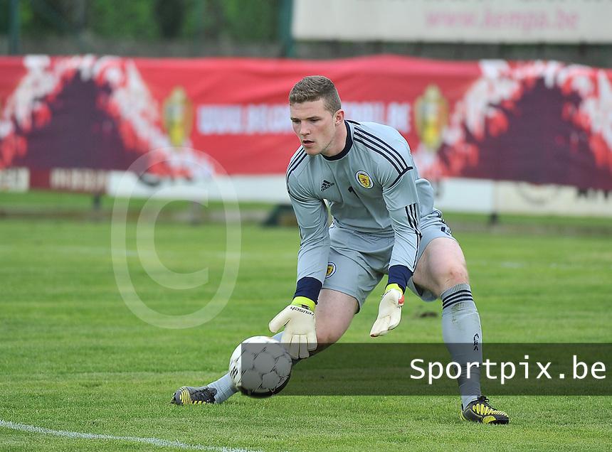 Scotland U19 - Georgia U19 : Jack Hamilton.foto DAVID CATRY / Nikonpro.be