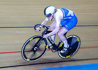 26th January 2020; National Cycling Centre, Manchester, Lancashire, England; HSBC British Cycling Track Championships; Female team sprint round two heat 2 Ellie Stone  (picture with sync slower shutter speed and panning)