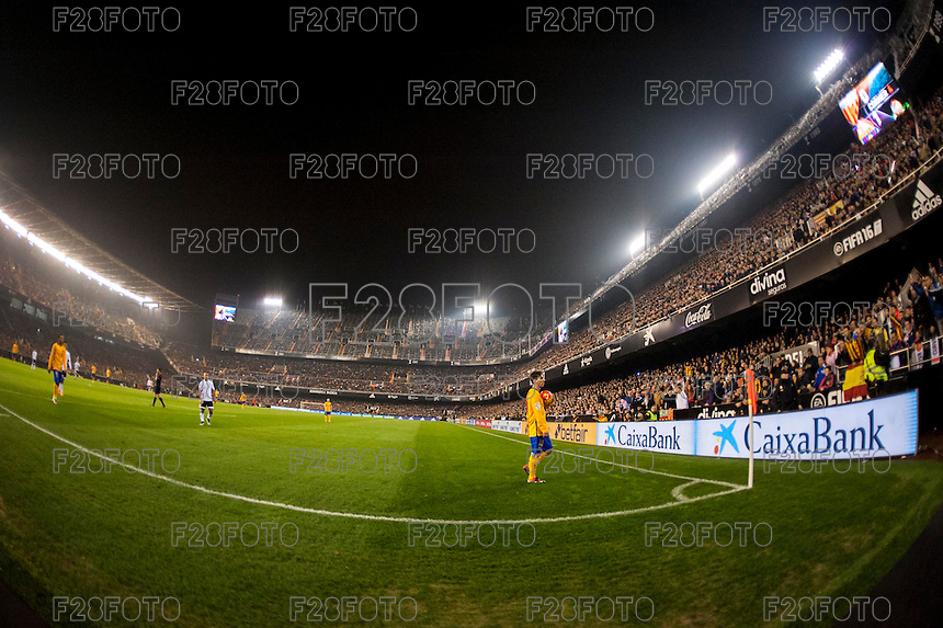 VALENCIA, SPAIN - DECEMBER 5: Messi during BBVA LEAGUE match between Valencia C.F. and FC Barcelona at Mestalla Stadium on December 5, 2015 in Valencia, Spain