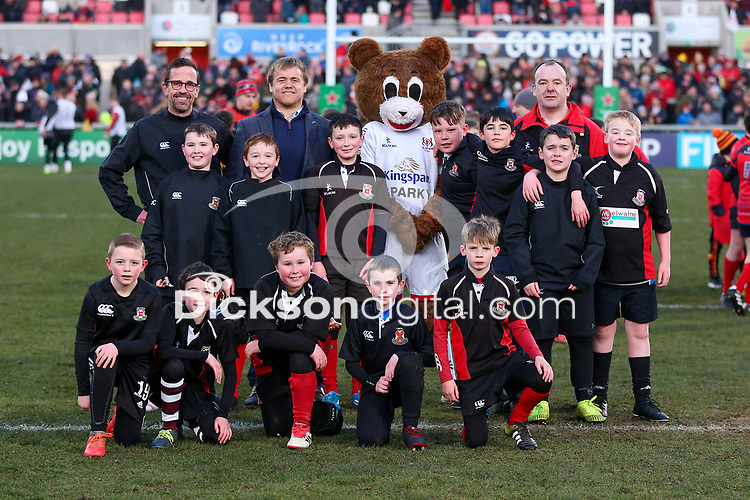 Saturday 18th January 2020   Ulster vs Bath<br /> <br /> Halftime mini-rugby during the Heineken Champions Cup Pool 3 Round 6 match between Ulster Rugby and Bath Rugby at Kingspan Stadium, Ravenhill Park, Belfast, Northern Ireland. Photo by John Dickson / DICKSONDIGITAL