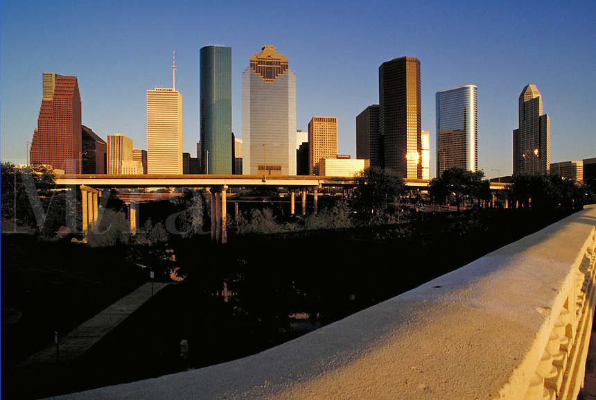 Houston skyline from Sabine Street Bridge