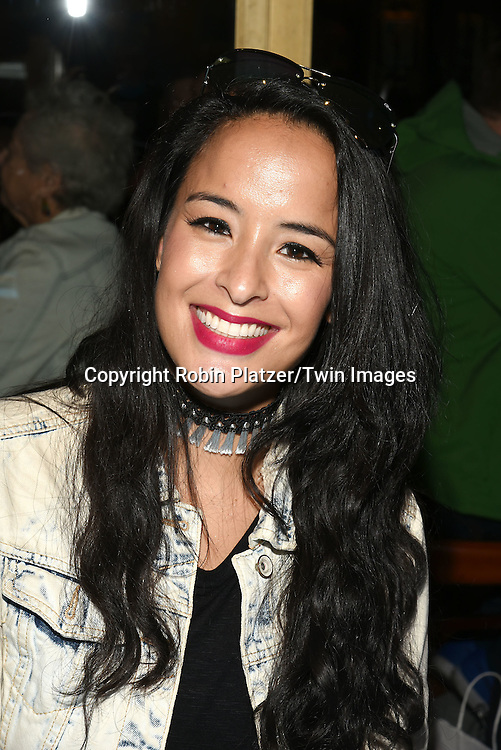 Courtney Reed and James Monroe Iglehart attends the Broadway Cares/Equity Fights Aids Flea Market and Grand Auction on September 25, 2016 at the Music Box Theatre and in Shubert Ally in New York, New York, USA. <br /> <br /> photo by Robin Platzer/Twin Images<br />  <br /> phone number 212-935-0770