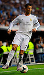 Cristiano Ronaldo gestures during the Spanish league football match Real Madrid CF vs Valencia CF at the Santiago Bernabeu stadium in Madrid on May 4, 2014. PHOTOCALL3000/