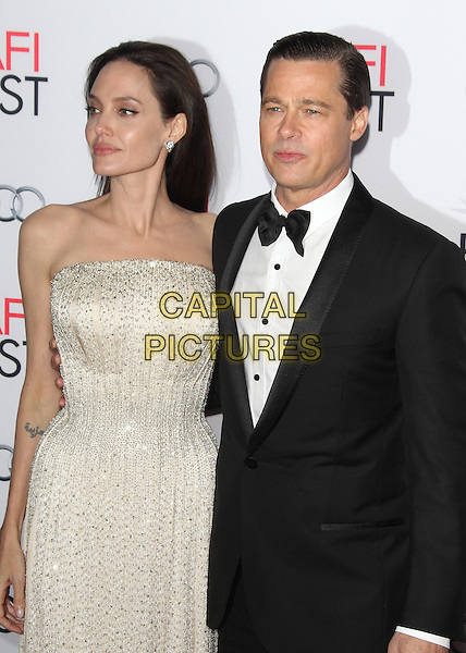 HOLLYWOOD, CA - NOVEMBER 5: Angelina Jolie and Brad Pitt at AFI FEST 2015 Opening Night Gala Premiere Of  By The Sea at TCL Chinese 6 Theatre on November 5, 2015 in Hollywood, California. <br /> CAP/MPI23<br /> &copy;MPI23/Capital Pictures