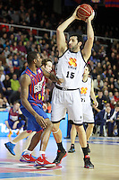 Mickael vs Mumbru. FC Barcelona Regal vs Uxue Bilbao Basket