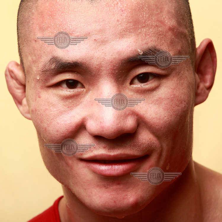 Li Yang, 57 kgs, from China, pictured after he won his semifinal fight at the 25th International Boxing Championship in Warsaw.